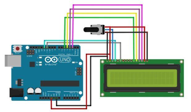 arduino lcd simple circuit