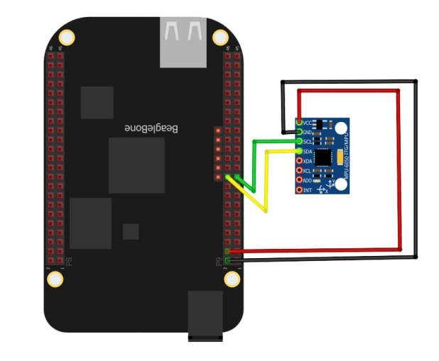 beaglebone black mpu6050 wiring