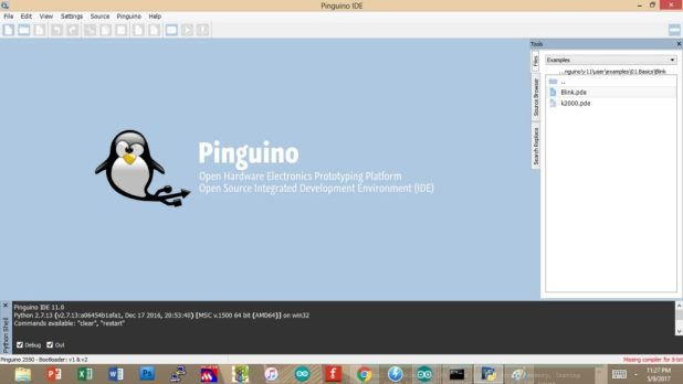 arduino like ide for pics - pinguino 1