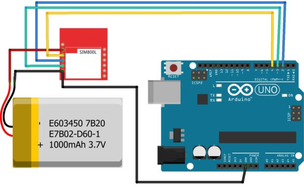 Arduino SIM800L Connection