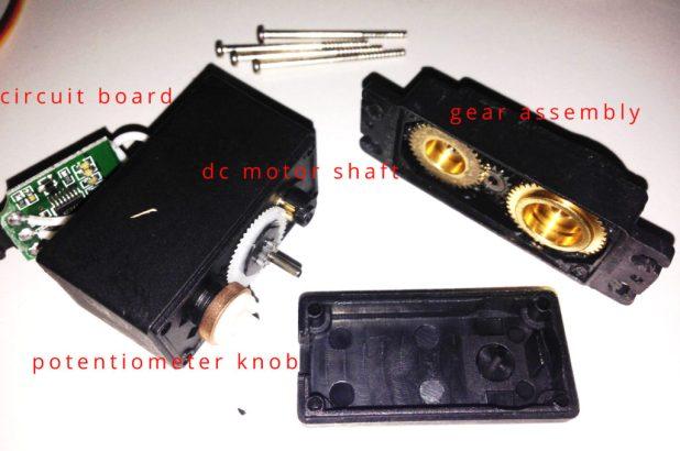 Arduino Servo MF996R Disassembled