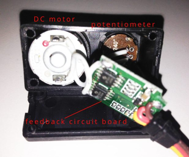 Arduino Servo MG996R internals