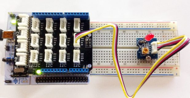 STM32 Nucleo with LED attached