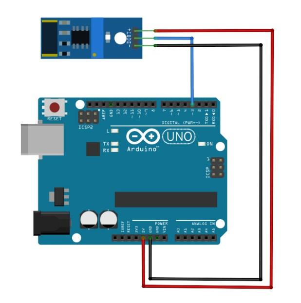 801s Vibration Sensor Arduino Diagram