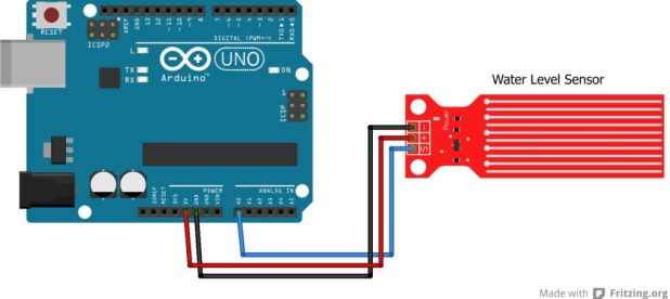 Using a water level sensor with microcontrollers teach