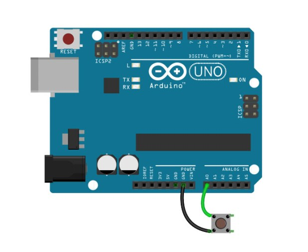 Arduino Interrupt A0 Pin Change Example