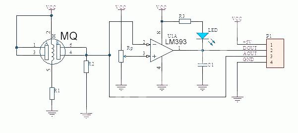 MQ135 schematic diagram