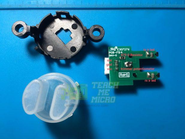 Turbidity sensor disassembled