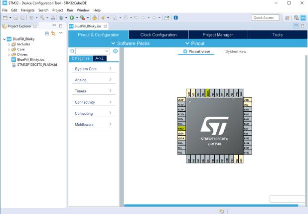 Blue Pill microcontroller STM32F103C8