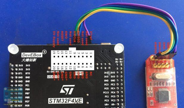 STM32F407VE JTAG to ST-Link SWD