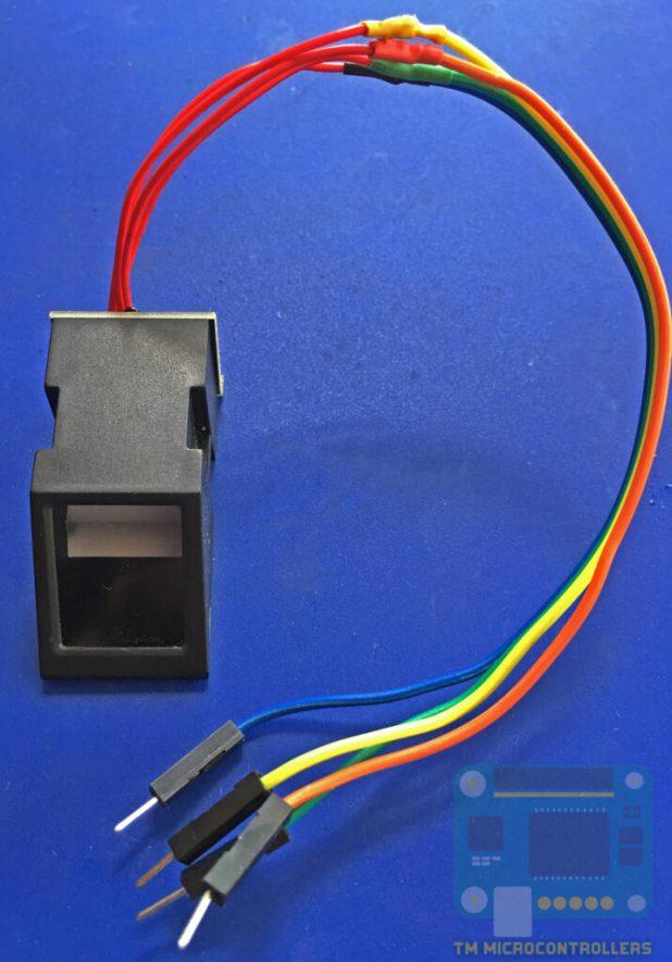 Fingerprint sensor with jumper wires