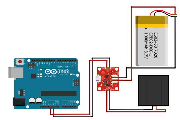 Solar-powered Arduino