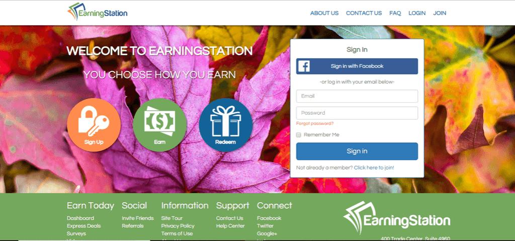 EarningStation sign up