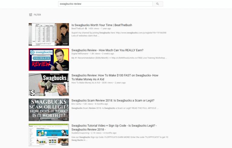 youtube swagbucks review