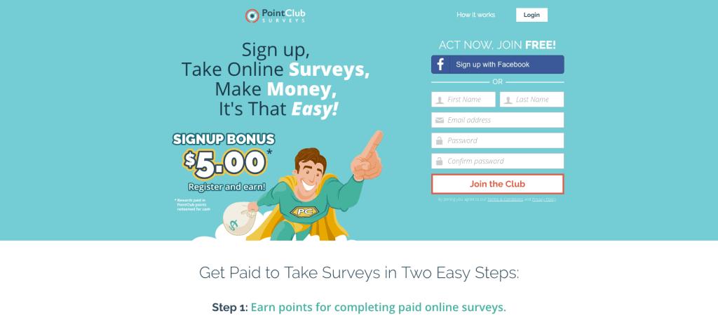 PointClub Survey Login for online surveys