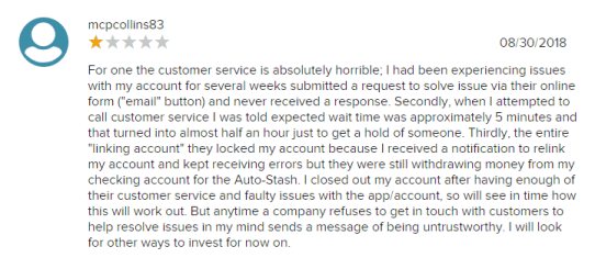 Stash user Review