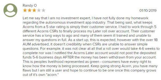 Acorns BBB Review