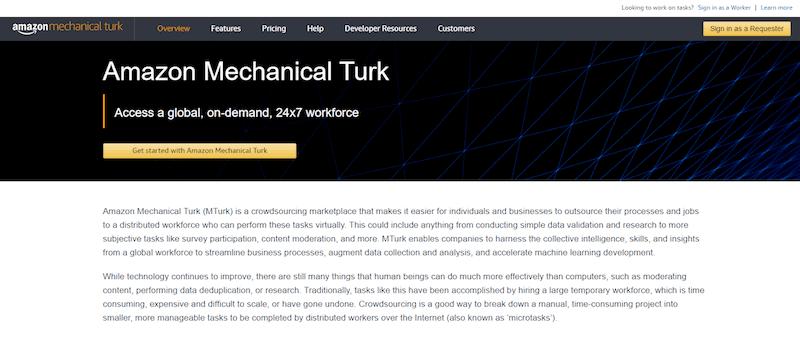 Mechanical Turk Homepage
