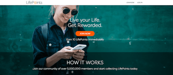 Homepage for Life Points