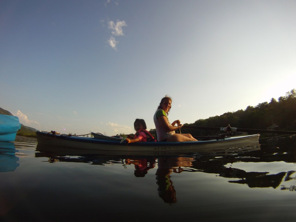 Dawn Smith-Pliner, Founder of Friends in Adoption and her grandaughter on a kayak