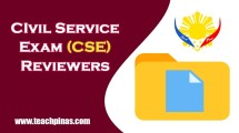 Civil Service Exam CSE Reviewers