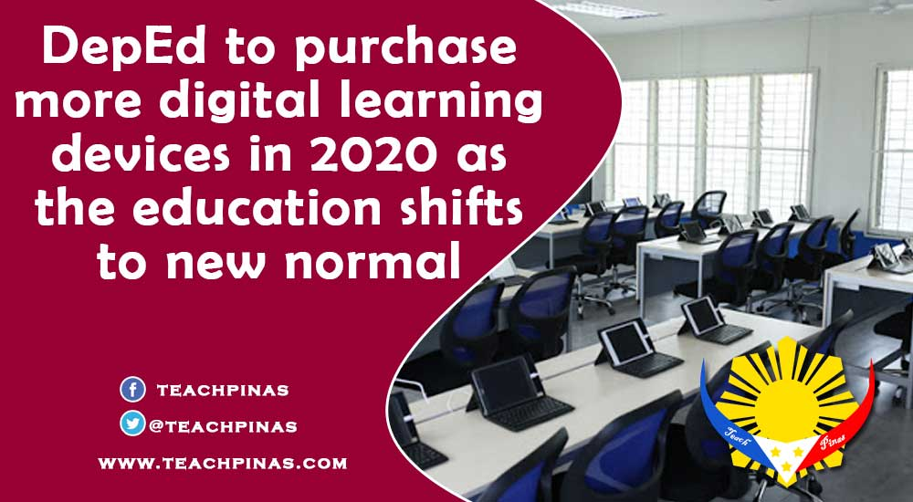 DepEd to purchase more digital learning devices in 2020 as the education shifts to new normal