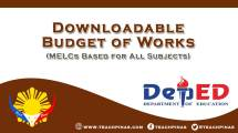 Budget of Works for All Subjects: MELC Based BOW
