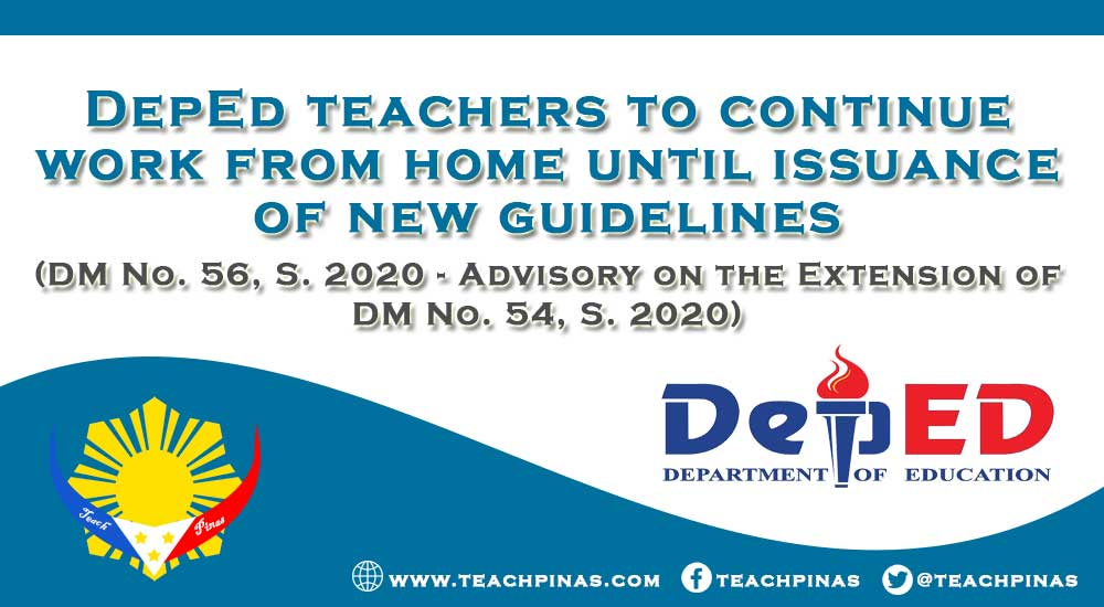 DepEd teachers to continue work from home until issuance of new guidelines