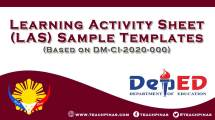Learning Activity Sheet LAS sample Templates