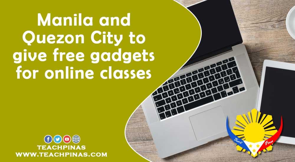 Manila and Quezon City to give free gadgets for online classes