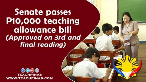 Senate passes 10k teaching allowance bill