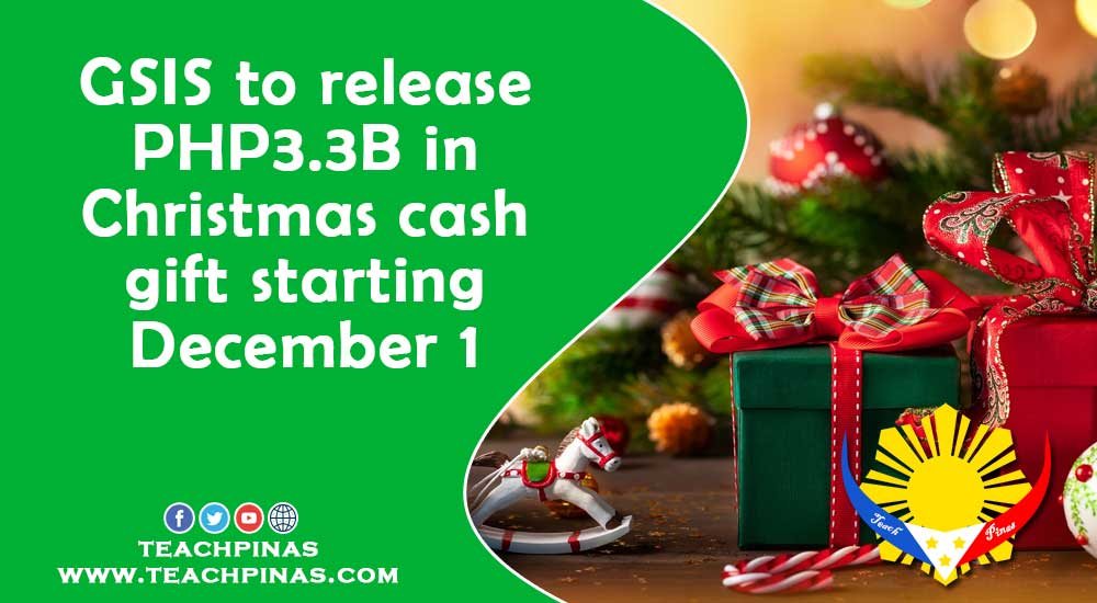 GSIS to release PHP3.3B in Christmas cash gift starting Dec 1