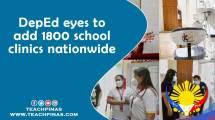 DepEd eyes to add 1800 school clinics nationwide
