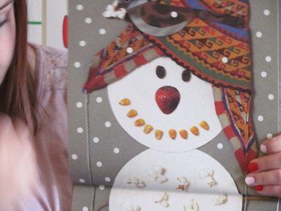 Making Lois Ehlert style paper plate snowmen in preschool