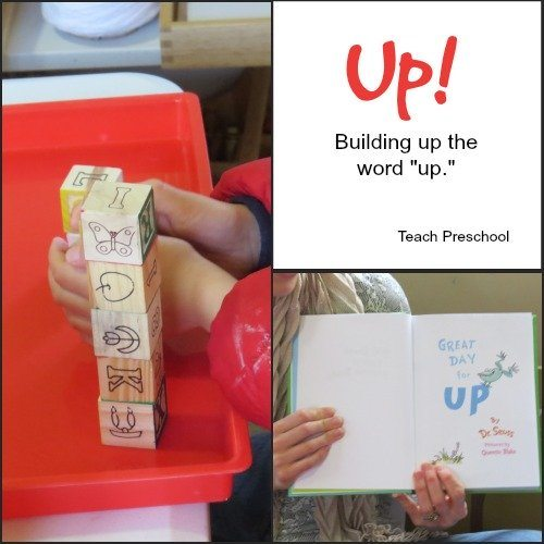 "Building up the word ""up!"""