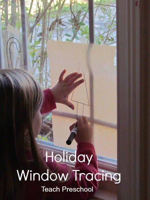 Holiday window tracing