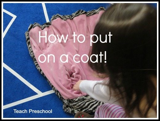 How to put on a coat in preschool
