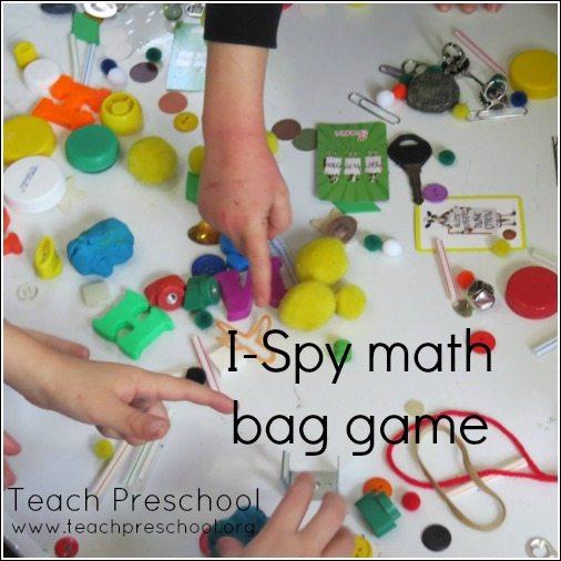 I-Spy math bag game