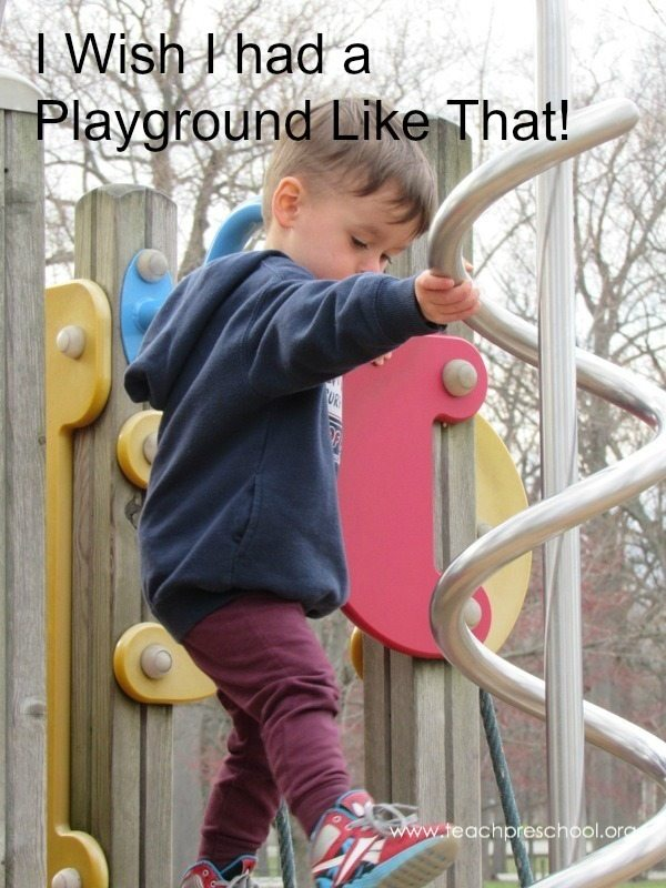 I wish I had a playground like that