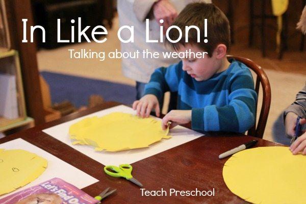 March roars in like a lion: Talking about weather in preschool