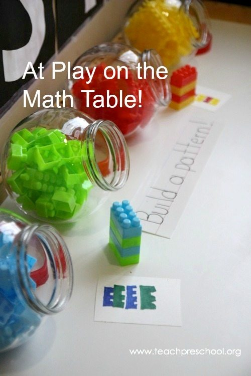 At play on the math table