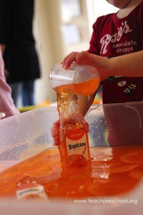 Exploring oranges around the classroom
