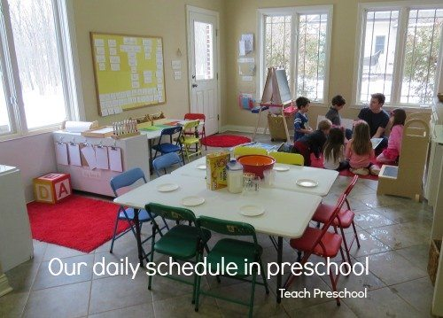 Our daily schedule in preschool