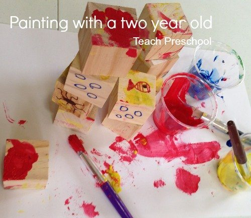 Painting with a two year old
