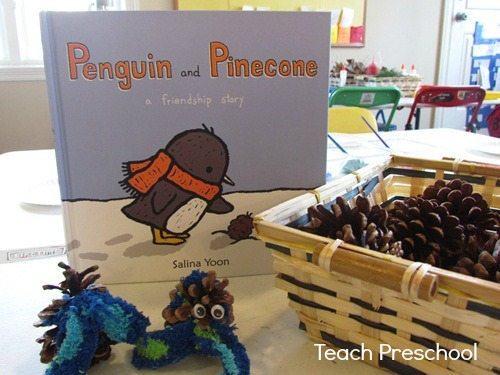 P is for penguins and pinecones