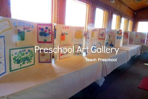 The preschool art gallery