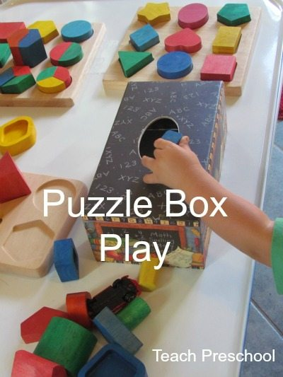 Puzzle box game for toddlers