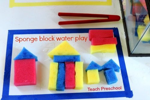 Sponge block water play puzzles