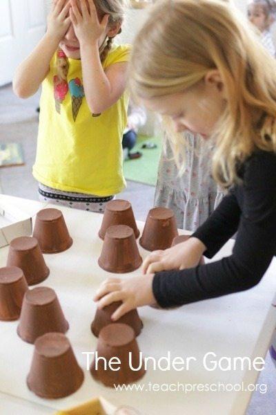 DIY under game for preschoolers
