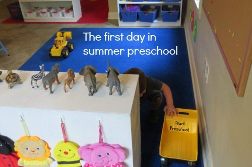 The first day in summer preschool
